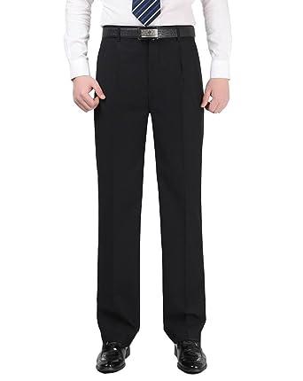 Lvrao Men S Summer Autumn Cool Pants Casual Work Suit Trousers Black
