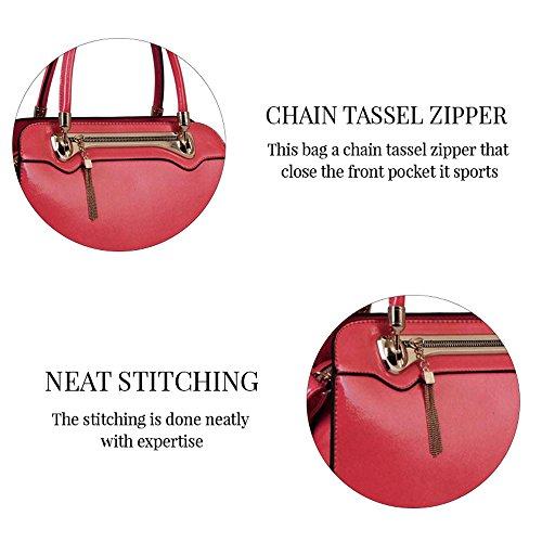 TrendStar - Bolso de asas para mujer rosa B - Pink