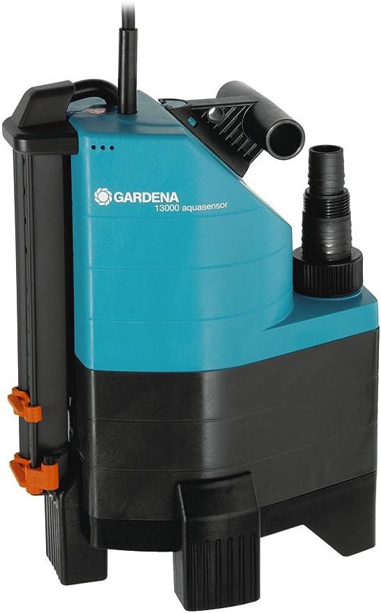 Gardena 1799-20 Comfort Bomba sumergible de aguas sucias 13000 aquasensor, hasta 13000 l/h