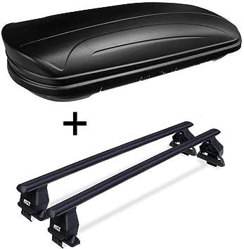 Box da tetto VDPMAA320 con serratura, nero opaco, 320 litri +