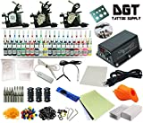 Complete Tattoo Kit 3 Machines Power Supply 40 colors ink set