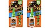 Gorilla Super Glue Gel, 15 Gram, Clear, (2 Pack)