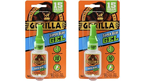 Gorilla Super Glue Gel, 15 g, Clear, (2 - Gel 15g