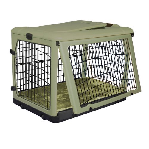 Pet Gear The Other Door Steel Crate with Fleece Pad for Cats and Dogs Up to 70-Pound, Sage by Pet Gear