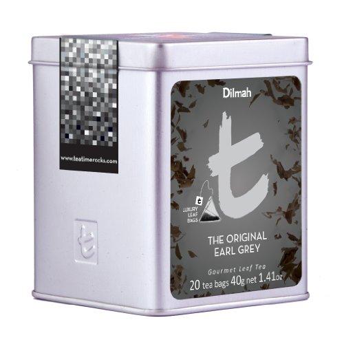 Dilmah Tea, The Original Earl Grey Tea, 20-Count Luxury Leaf Teabags (Pack of 2)