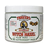 New - Thayers Witch Hazel with Aloe Vera - 60 Pads