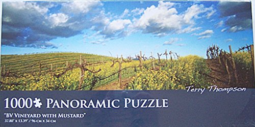 Andrews & Blaine LTD BV Vineyard with Mustard by Terry Thompson 1000 Piece Panoramic Jigsaw Puzzle