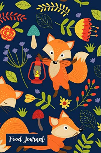 Food Journal: Cute Fox 60 Days Personal Food Journal & Fitness Diary ~ Exercise Log Book, Daily Gratitude with Prompts Small Lined Notebook by LadyMBerries Publishing