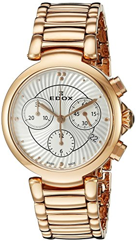 Edox Women's 10220 37RM AIR LaPassion Rose Gold-Tone Stainless Steel Watch