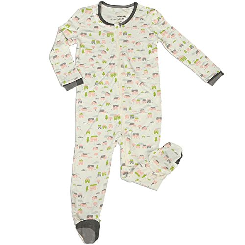 ca2eea265c5 Silkberry Baby Bamboo Footie Sleeper Little Village 6-12m