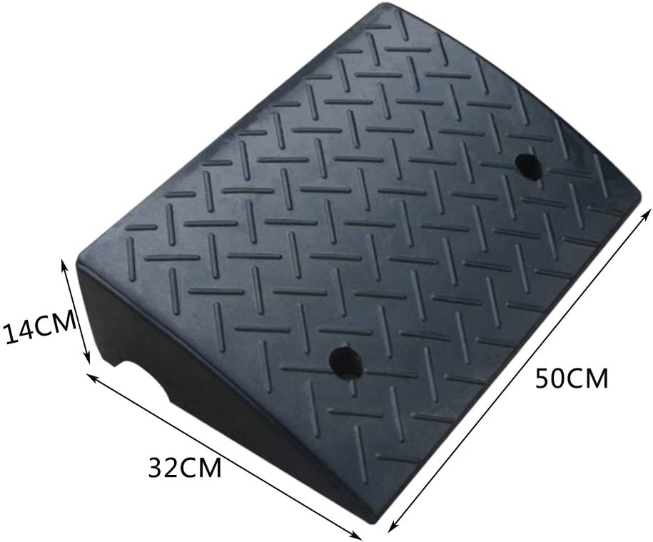 Road Tooth Car Skateboard Bicycle Slope Uphill Pad Triangle Pad Vehicle Ramps Size : 503214CM 503214CM Kerb Ramps 11 way bike CSQ Ramps Rubber Slope Pad