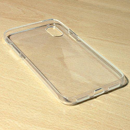 igadgitz Transparent Clair Brillant Etui Housse Coque Gel TPU pour Apple iPhone X Case Cover + Film de Protection