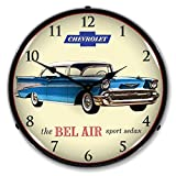 1957 Chevrolet Bel Air Lighted Wall Clock 110v GM1702723 Review