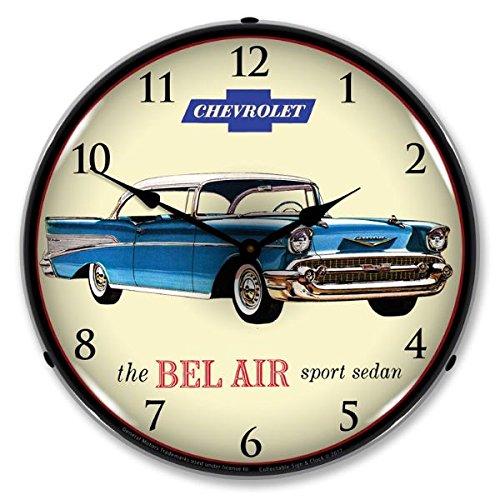 1957 Chevrolet Bel Air Lighted Wall Clock 110v GM1702723