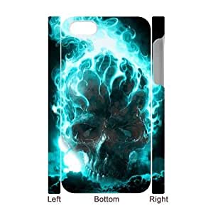 3D Bumper Plastic Case Of Skull customized case For Iphone 4/4s