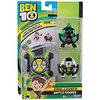 Ben 10 Omni Launch Battle Figures - Diamondhead & Cannonbolt