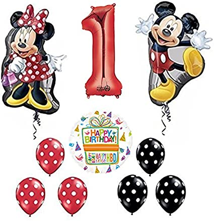 """32/"""" Mickey//Minnie Mouse  Foil Balloons  fun Balloons for Kids Birthday Party"""