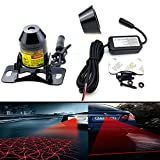 kit para motor - LEADTOPS Anti Collision Rear-end Car Laser Tail Fog Light Auto Brake Parking Lamp Rearing Warning Light Motorcycle Double Heads Grid and Straight Line