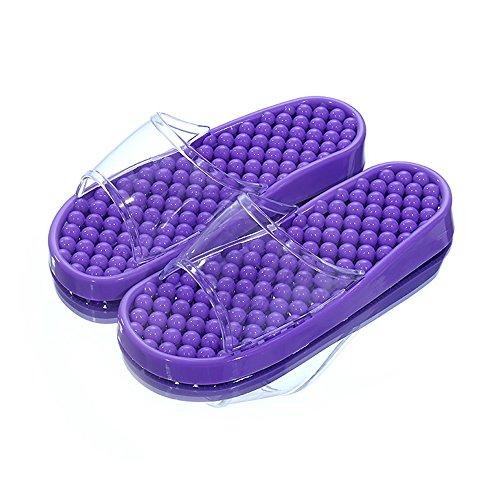 femenino baño 8 Zapatos masculinas antideslizantes Zapatillas del la de impermeables Zapatillas de pie la Cómodo baño del de interior de de salud verano de colores casa Acupress masaje de interior H de XvqWCd