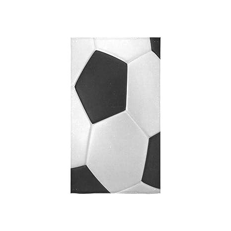 Hot diseño balón de fútbol textura suave cara toalla/toalla/toalla de baño,