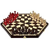 three person chess - Wooden Three Player Chess - 18.5