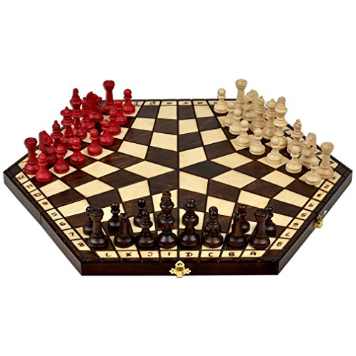 Wooden Three Player Chess - 18.5