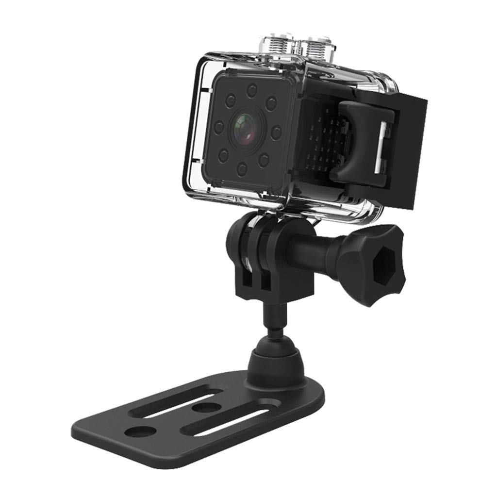 Flameer 30mm 1.2インチ マイクロカメラ SQ23 HD カムコーダー ナイトビジョン 1080P スポーツ DVカメラ 赤外線 車 DVR モーション検出 ブラック 39e30021a1d1ab3dc0f7204df6e59c0e  ブラック B07LGH89KW
