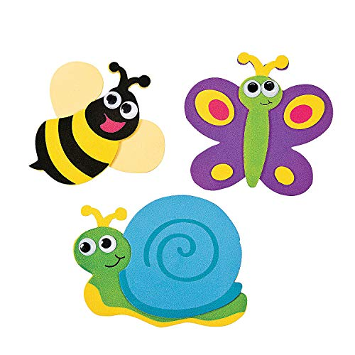 Fun Express Bug Magnet Craft Kits (Makes 12) ()