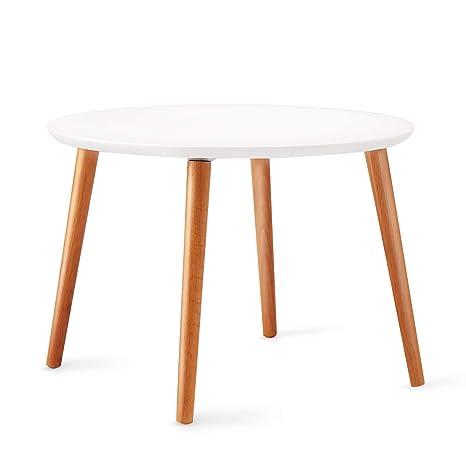 Amazon.com: TaoHFE - Mesa auxiliar redonda para salón, mesa ...