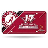 Rico Alabama Crimson Tide Official NCAA 2017 National Championship Champs License Plate Metal by 463203