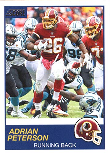 2019 Score Football #195 Adrian Peterson Washington Redskins Official NFL Trading Card From Panini ()