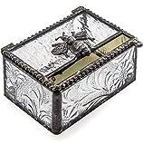 J Devlin Box 753 Bee Trinket Box Stained Glass Jewelry Keepsake Box Bumble Bee