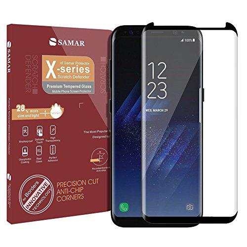 SAMAR – Pellicola Protettiva per Samsung Galaxy S8 Plus, Proteggi Schermo in Vetro Temperato Qualità Premium per Samsung Galaxy S8 Plus - Ultra Leggero Bordi Arrotondati Più Duro di un coltello