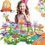 TERTOY Flower Garden Building Toys for Girls, STEM Toy Gardening Pretend Gift 110PCS for Kids, Building Blocks