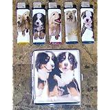 Cute Dog Puppies Cigarette Case Lighter Combo Model 6