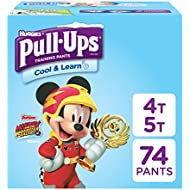 Pull-Ups Cool & Learn Potty Training Pants for Boys, 4T-5T (38-50 lb.), 74 Ct. (Packaging May Vary)