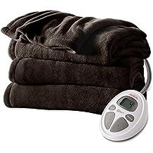 Sunbeam Microplush Heat Blanket, Queen, Walnut