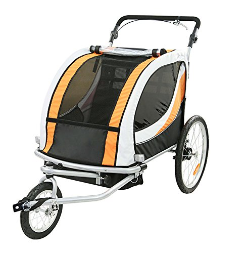 TIGGO World Kinderfahrradanhänger Fahrradanhänger Jogger Jogger Fahrradanhänger 2in1 Anhänger Kinderanhänger JBT03N-D03 802-D03 5c1bd8
