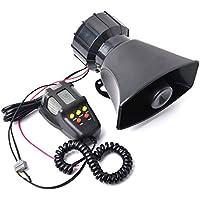 CISNO PA System 100W Emergency Amplifier Car Warning Fire Alarm Loud Siren Horn Speaker MIC