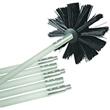 Deflecto Dryer Duct Cleaning Kit, Lint Remover, Extends Up To 12 Feet, Synthetic Brush Head, Use With or Without a Power Drill