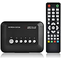 UVIA 1080P Full HD Multi TV Media Player HDMI Video Player with YPbPr USB 2.0 SD and HDMI Ports MP3 AVI RMVB MPEG Advertising Player with Remote Control