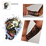 KAifaj 1 Pcs Waterproof Color Large Paddle Of Dragon Pattern Tattoo Stickers