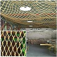 Rope Net Hemp Rope Net Rock Wall Climb Net,Kids Training Net Multi-Size,Safety Rope Netparrot ToyHemp NetTrail