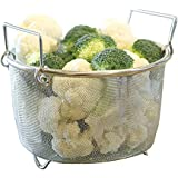 Instant Perrrt! | Premium Steamer Basket | Perfectly Prepares Vegetables, Eggs, Meats & More | Instant Pot Pressure Cooker Accessory | Stainless Steel & Dishwasher Safe | 3 Quart