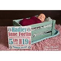 Baby Birth Canvas, Personalized Baby Stats, Nursery Wall Decor, Birth Sign, Custom Baby Canvas, Best Baby Gift, Newborn, Baby Keepsake