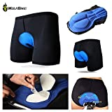 Wolfbike Men's Gel 3D Padded Coolmax Bicycle Cycling Underwear Shorts