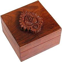 Small Wooden Ring Gift Box - Trinkets Pills Studs Knickknacks Holder Organizer Multipurpose Home Kitchen Storage Box