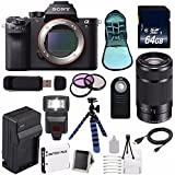 Sony Alpha a7R II Mirrorless Digital Camera (International Model no Warranty) + Sony E 55-210mm f/4.5-6.3 OSS E-Mount Lens (Black) + 49mm 3 Piece Filter Kit 6AVE Bundle 108