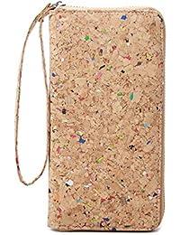 Vegan Cork Wallets Purse Handbags for Womens Eco Friendly Cork Clutch Bag