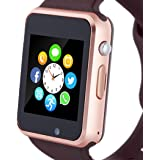 Amazqi Smart Watch, Smartwatch Phone with SD Card Pedometer Call Text Notification SIM Card Slot Music Player Camera Compatib